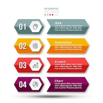 Modello di infografica aziendale del flusso di lavoro del processo di fase