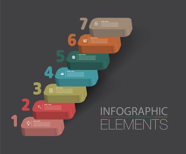 Intensificare il concetto di successo aziendale infografica vettoriale