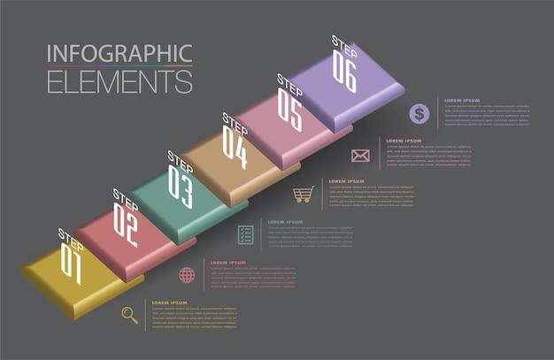 Intensificare il concetto di successo aziendale infografica scala vector