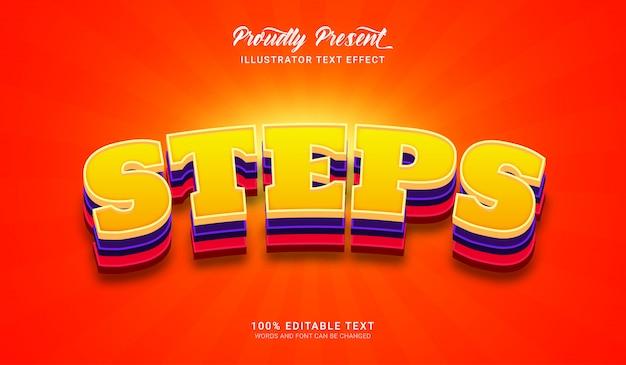 Passi effetto stile testo. effetto di testo modificabile
