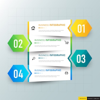 Passi progettazione infografica timeline.