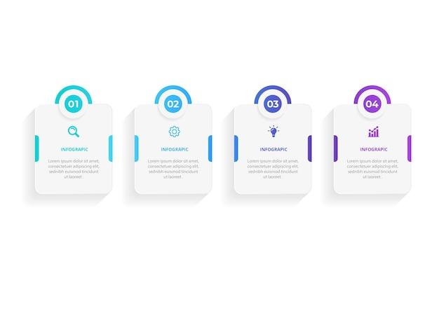 Passaggi progettazione infografica timeline