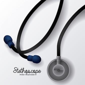 Disegno dello stetoscopio