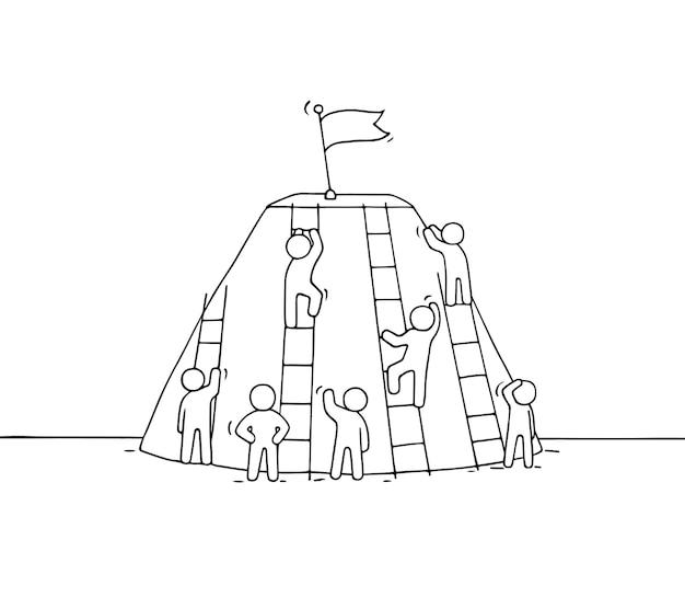 Figura stilizzata doodle illustrazione