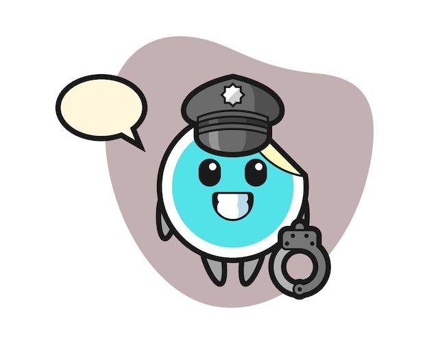Adesivo cartone animato come una polizia
