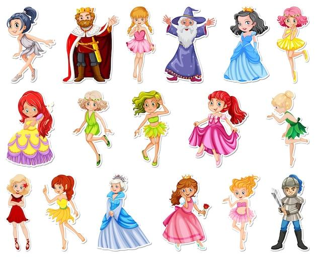 Set di adesivi con diversi personaggi dei cartoni animati da favola