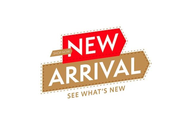 Modello di adesivo per la promozione del nuovo arrivo del negozio del negozio