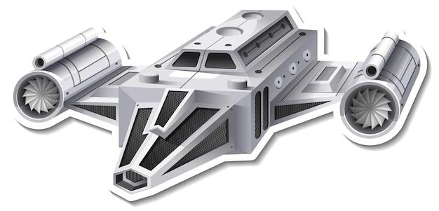 Un modello di adesivo con un aereo da caccia isolato