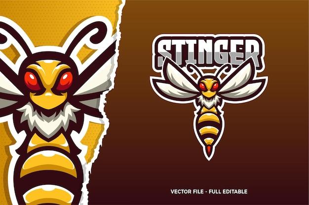 Modello di logo del gioco stinger e-sport