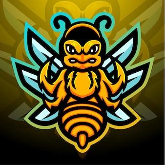 Stinger mascotte esport logo design
