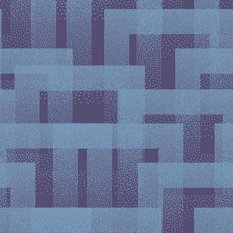 Texture di quadrati punteggiati reticolo senza giunte alla moda sfondo di arte astratta blu