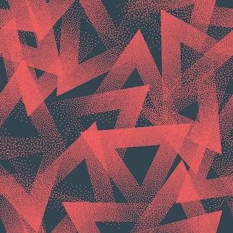 Texture triangoli punteggiati modello senza cuciture alla moda sfondo astratto blu rosso