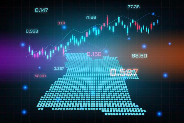 Sfondo del mercato azionario o grafico commerciale forex trading per il concetto di investimento finanziario della mappa dell'angola. idea di business e design dell'innovazione tecnologica.