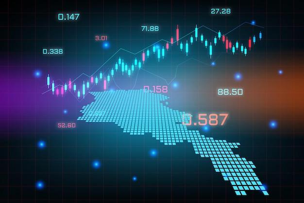 Sfondo del mercato azionario o grafico commerciale forex trading per il concetto di investimento finanziario della mappa dell'armenia. idea di business e design dell'innovazione tecnologica.