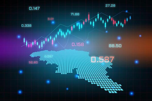 Sfondo del mercato azionario o grafico commerciale forex trading per il concetto di investimento finanziario della mappa del belgio. idea di business e design dell'innovazione tecnologica.