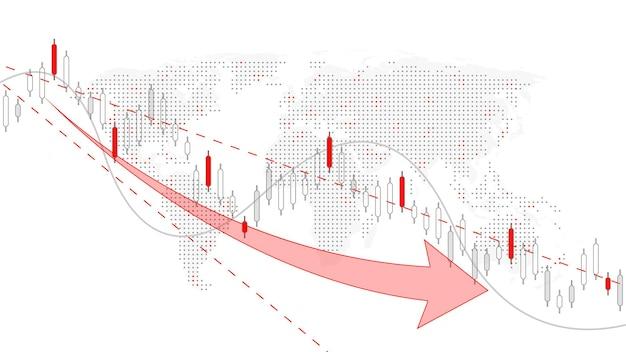 Sfondo del mercato azionario o grafico commerciale forex trading per il concetto di investimento finanziario. presentazione aziendale per il tuo design. tendenze economiche, idea imprenditoriale e design dell'innovazione tecnologica.