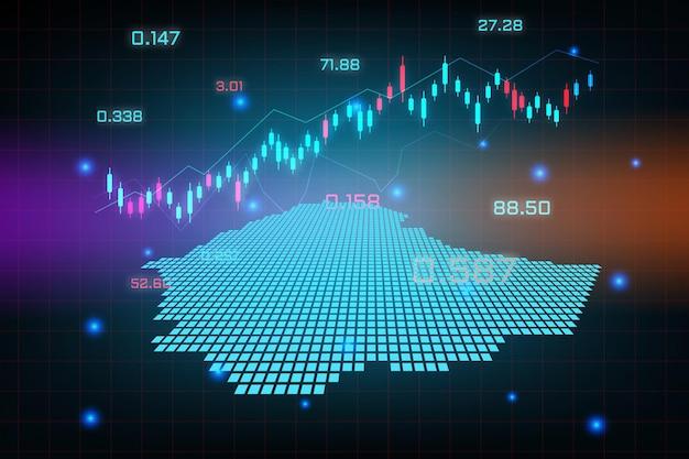 Sfondo del mercato azionario o grafico commerciale forex trading per il concetto di investimento finanziario della mappa dell'etiopia.