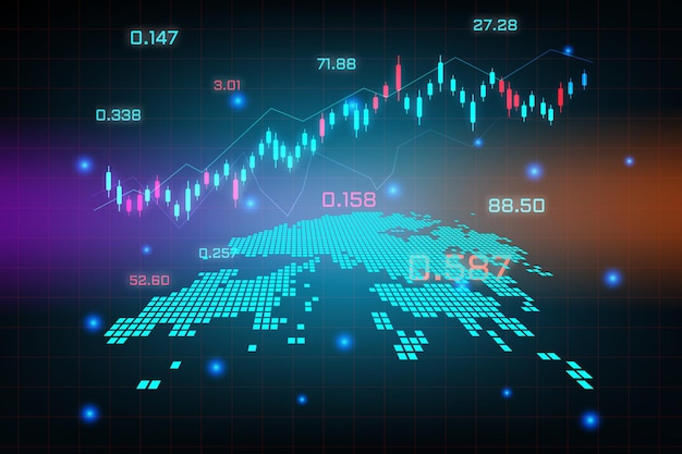 Sfondo del mercato azionario o grafico commerciale forex trading per il concetto di investimento finanziario della mappa di hong kong. idea di business e design dell'innovazione tecnologica.