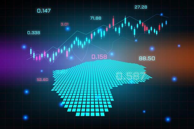 Sfondo del mercato azionario o grafico commerciale forex trading per il concetto di investimento finanziario della mappa del lesotho. idea di business e design dell'innovazione tecnologica.