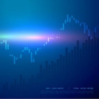 Grafico del grafico del bastone della candela del mercato azionario con il punto alto e basso