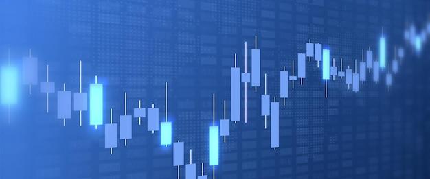 Grafici del mercato azionario sfondo del grafico di crescita aumento dell'indice finanziario forex aumento della valuta