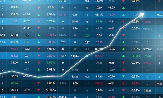 Mercato azionario, grafico economico con diagrammi