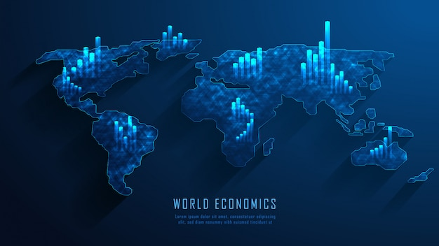 Concetto del grafico commerciale del mercato azionario o del forex