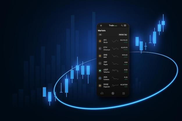 Grafico del mercato azionario o forex nel concetto grafico adatto per investimenti finanziari o idee di business di tendenze economiche e design di tutte le opere d'arte.