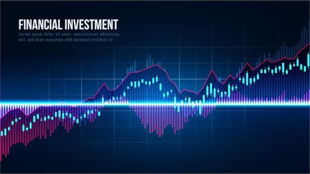 Mercato azionario o forex trading concetto di indicatori
