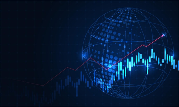 Grafico commerciale di investimento del mercato azionario nel concetto grafico adatto.