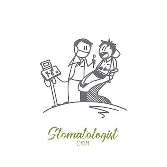 Illustrazione di concetto di stomatologo