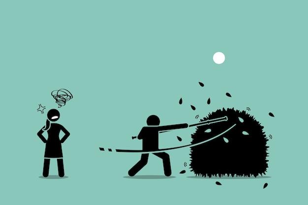 Smettila di battere intorno ai cespugli.