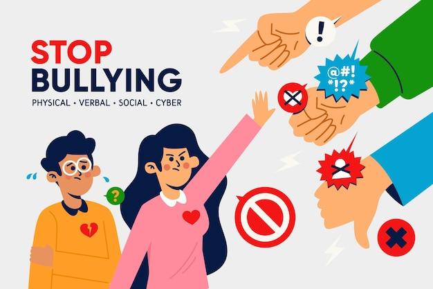 Smettere di bullismo concetto