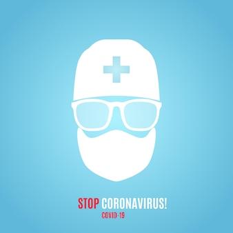 Ferma il banner del vettore di coronavirus