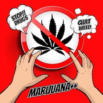 Fermare l'illustrazione di droghe