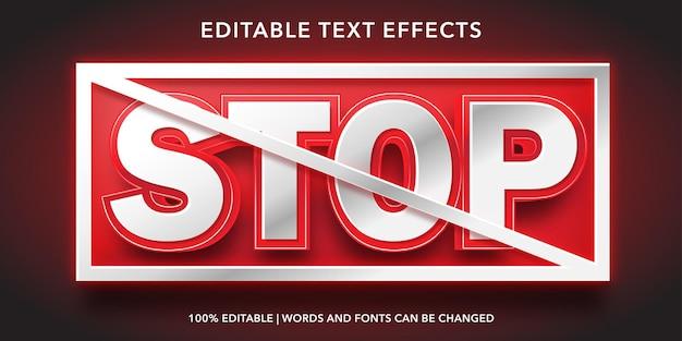 Interrompi l'effetto di testo modificabile