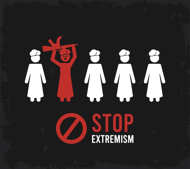 Stop all'estremismo banner