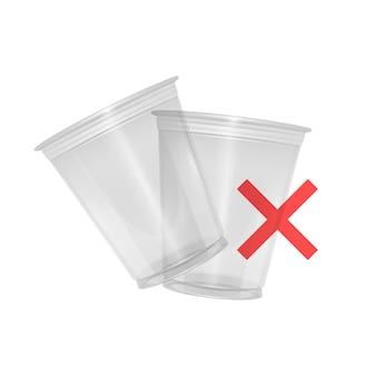 Fermare il bicchiere di plastica fermare l'inquinamento da rifiuti di plastica