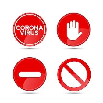 Fermare il cartello stradale con il simbolo o l'icona della mano grande per le attività vietate. illustrazione vettoriale.