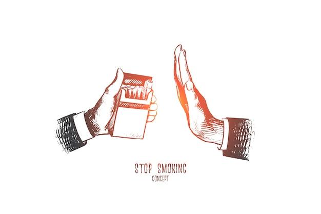Smettere di fumare concetto illustrazione