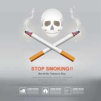 Smettere di fumare concetto giornata mondiale senza tabacco