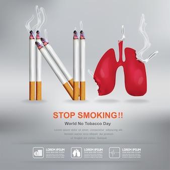 Smettere di fumare poster design