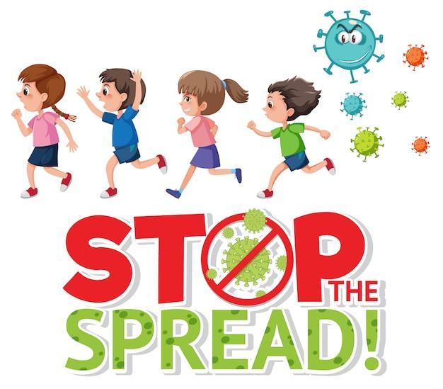 Smetti di diffondere il segno di coronavirus