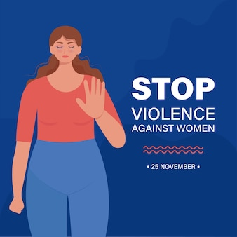 Stop alla violenza contro la bandiera della donna.