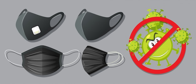 Blocca il virus indossando una maschera