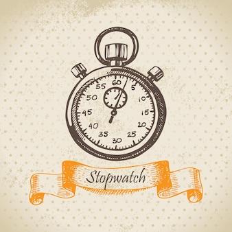 Cronometro. illustrazione disegnata a mano