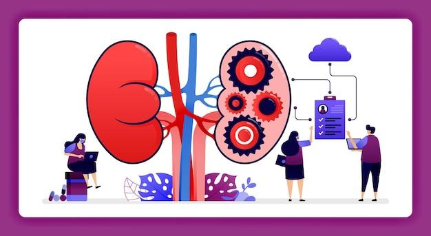 Archiviazione dei dati sulla salute degli organi interni e dei reni nel cloud