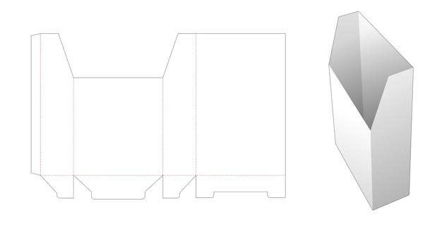 Modello fustellato per scatola alta di stoccaggio