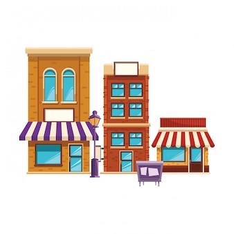 Cartone animato edificio negozio
