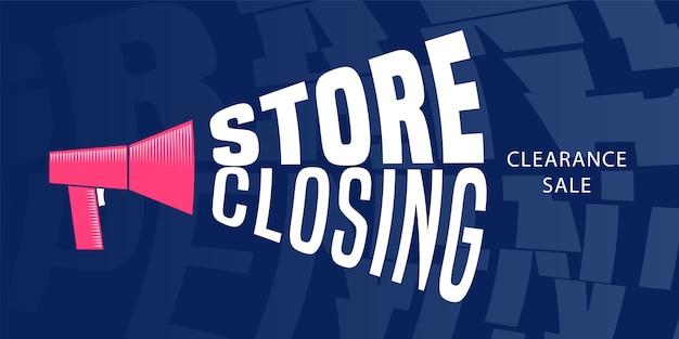 Vendita di chiusura del negozio, banner